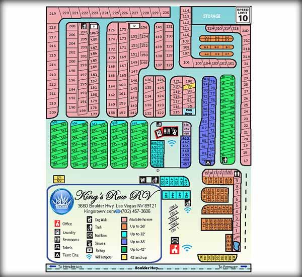 The Park Las Vegas Map.King S Row Rv Park Photo Gallery Map In Las Vegas Nv
